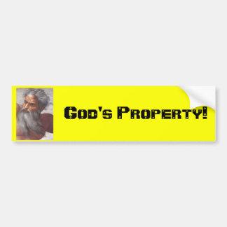 God God s Property Bumper Stickers