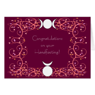 God & Goddess Wiccan Handfasting Congratulations Greeting Card