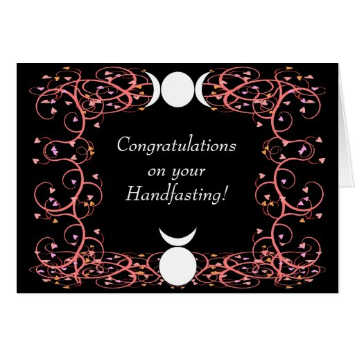 Handfasting Invitation: God & Goddess Wiccan Handfasting Congratulations Greeting