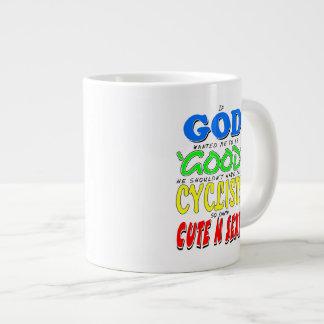 GOD GOOD CYCLISTS CUTE 'N' SEXY GIANT COFFEE MUG