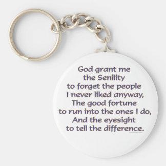 God Grant Me Humor Basic Round Button Key Ring
