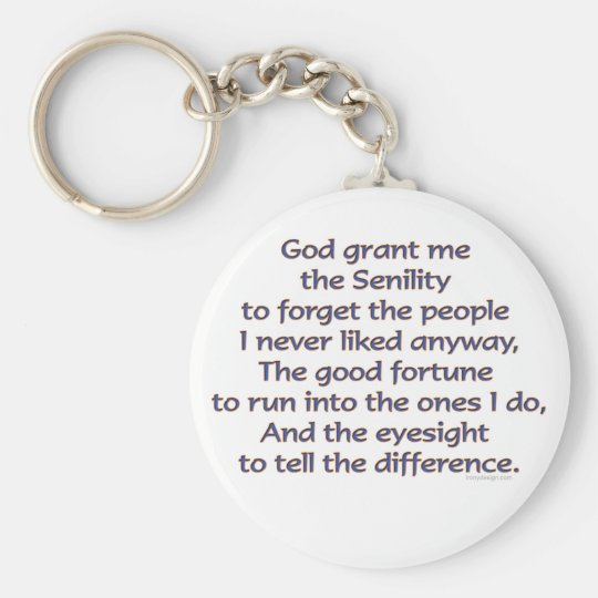 God Grant Me Humour Basic Round Button Key Ring