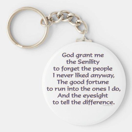 God Grant Me Humour Key Ring