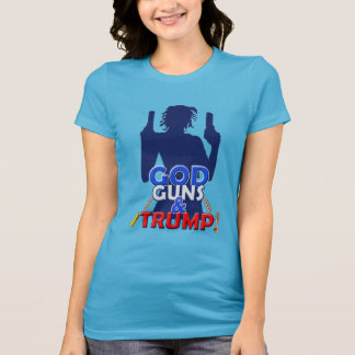 God Guns and Trump Red White & Blue Arms T-shirt