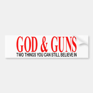GOD & GUNS BUMPER STICKER
