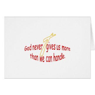 God Handles Greeting Card