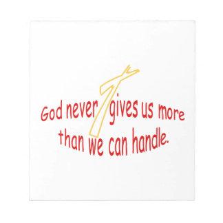 God Handles Notepads