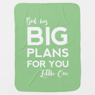 God Has Big Plans | Christian Baby Blanket