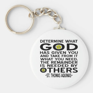 God Has Given Basic Round Button Key Ring