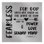 God has not given us spirit of Fear Scripture Poster