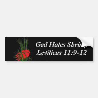 God Hates Shrimp Bumper Sticker