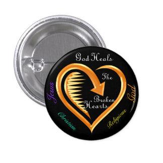 God Heals The Broken Hearts8 3 Cm Round Badge