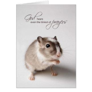 God Hears the Tiniest of Prayers, Little Mouse Card