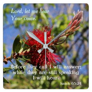 God Hears You Bible Verse Wall Clock