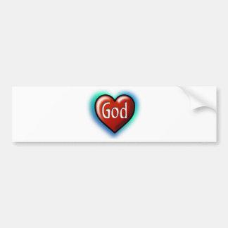 God Heart Bumper Sticker