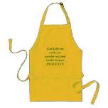 God helps me cook...no wonder my food smells & ... standard apron