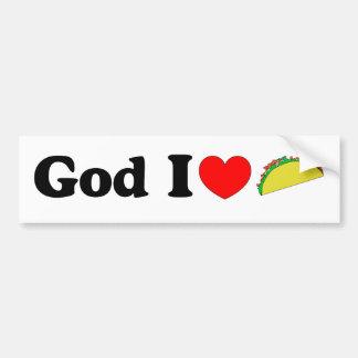God I Love Tacos! Car Bumper Sticker