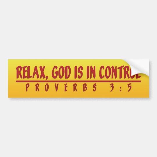 God In Control Bumper Sticker