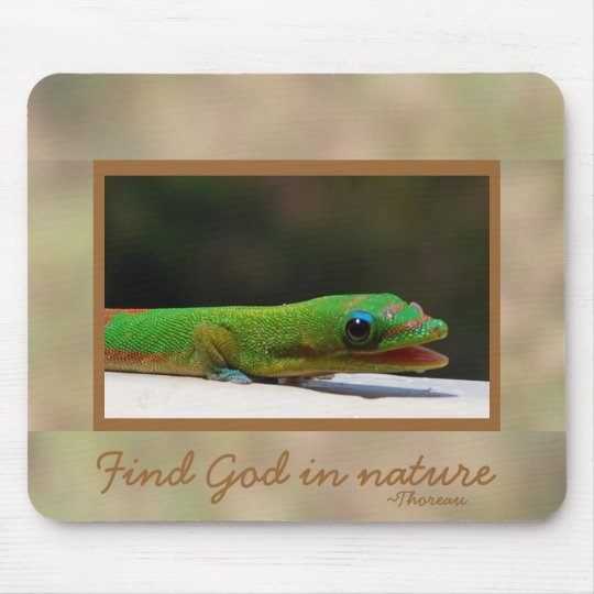 God in Nature Thoreau Quote Mouse Pad