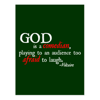 God is A Comedian Postcard
