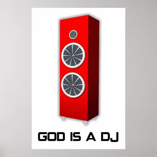 God is a DJ Poster