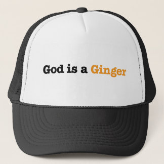 God is a Ginger Trucker Hat