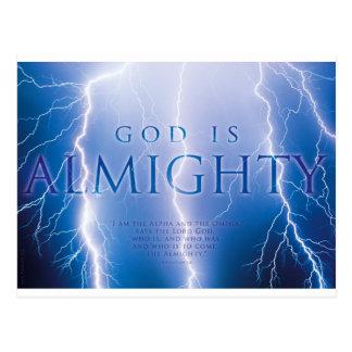 GOD IS ALMIGHTY - Christian, faith, religion Postcard