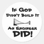 God is an Engineer! Sticker