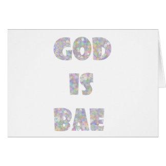 god is bae greeting card
