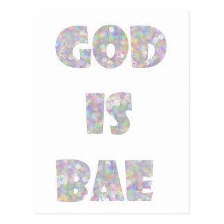 god is bae postcard