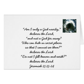God is Everywhere Bible Passage Note Card