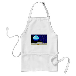 God is everywhere, earth and stars apron