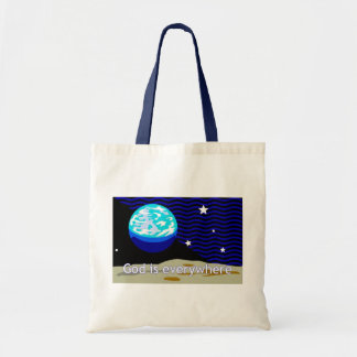 God is everywhere earth and stars bag