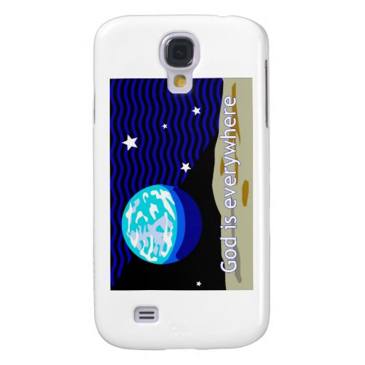 God is everywhere, earth and stars samsung galaxy s4 cover