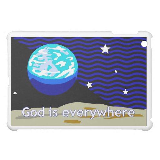 God is everywhere, earth and stars iPad mini covers