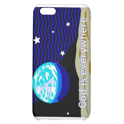 God is everywhere, earth and stars iPhone 5C cases
