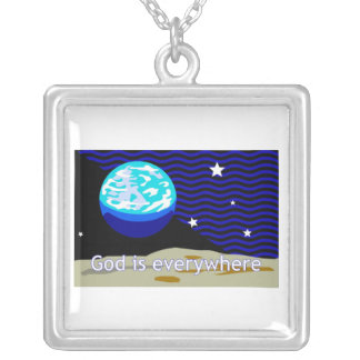 God is everywhere earth and stars pendants