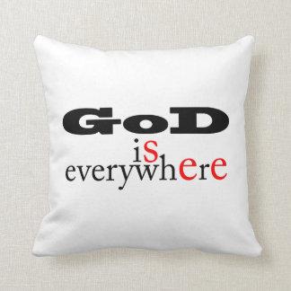 God is everywhere.God see everywhere-Throw Pillow