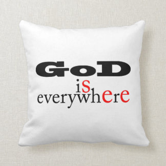 God is everywhere.God see everywhere-Throw Pillow