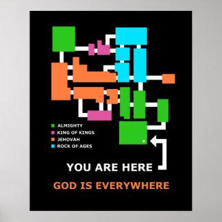 God is everywhere Kiosk Print