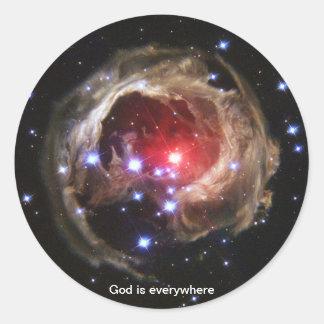 God is everywhere - Light Echo sticker