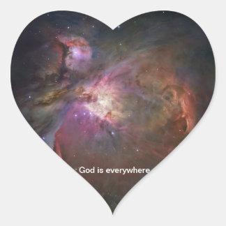 God is everywhere - Orion Nebula sticker