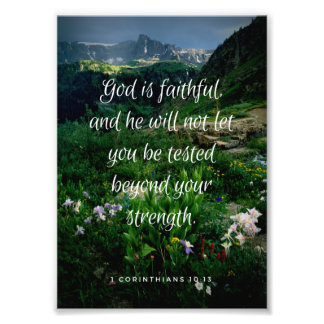 God is Faithful Print Photo Print