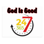 God Is Good 247 postcard
