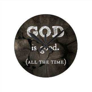 God is Good...All the Time Custom Christian Round Clock