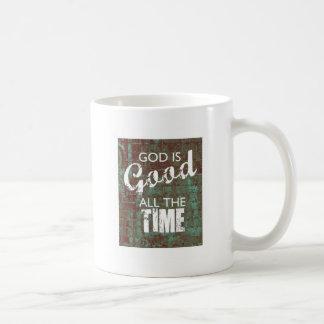 God is Good all the Time Basic White Mug
