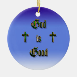 God is Good Christmas Ornament