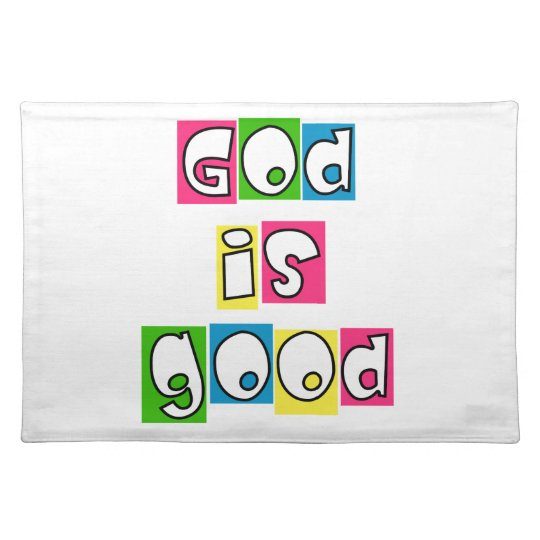 God is good place mat