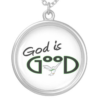 God is Good Silver Plated Necklace