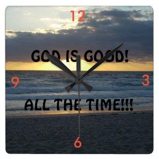 GOD IS GOOD! WALLCLOCKS